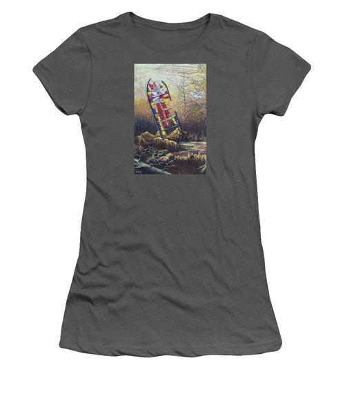 Glass Dove Women's T-Shirt (Junior Cut) by Jack Malloch