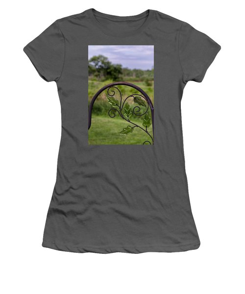 Glass Leaves Women's T-Shirt (Athletic Fit)