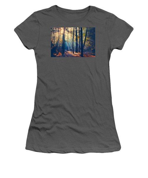 Glorious Forest Morning Women's T-Shirt (Junior Cut) by Diane Alexander