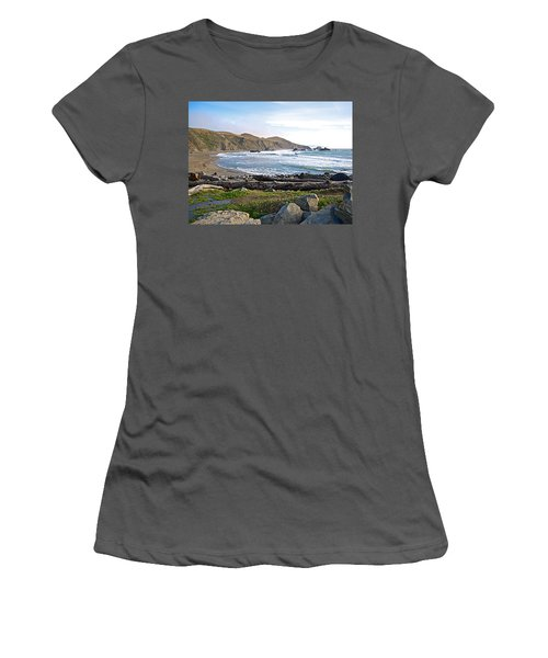 Goat Rock State Beach On The Pacific Ocean Near Outlet Of Russian River-ca  Women's T-Shirt (Junior Cut) by Ruth Hager