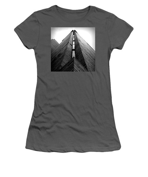 Goddard Stair Tower - Black And White Women's T-Shirt (Athletic Fit)