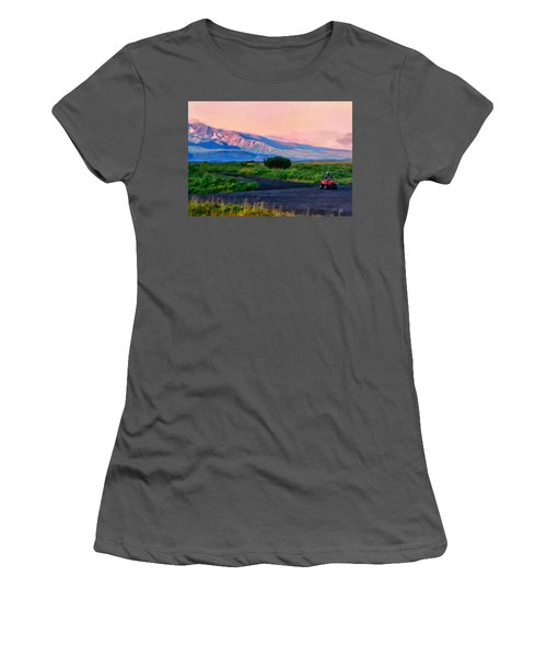 Going To School Cold Bay Style Women's T-Shirt (Junior Cut) by Michael Pickett