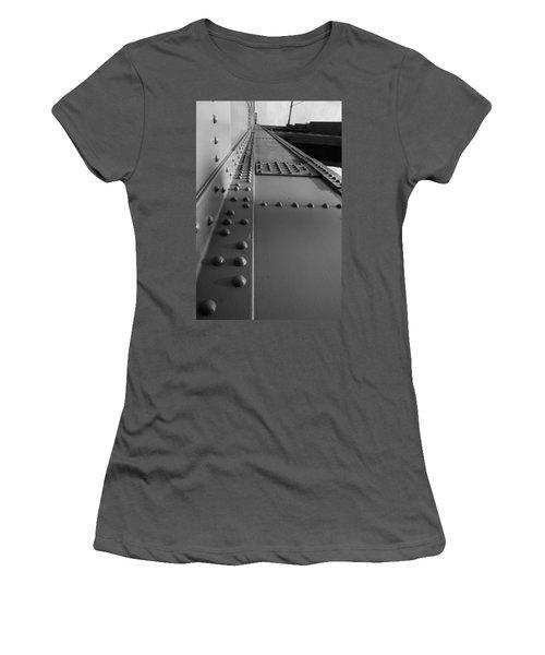 Golden Gate  Abstract Women's T-Shirt (Junior Cut) by Aidan Moran