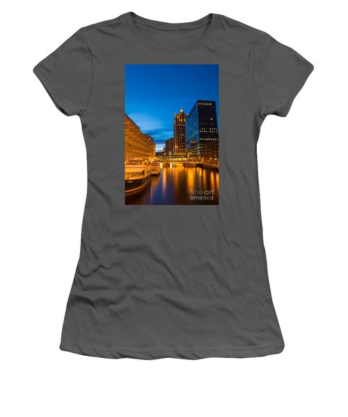 Golden Hour Milwaukee River Women's T-Shirt (Athletic Fit)