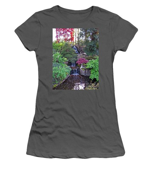 Women's T-Shirt (Athletic Fit) featuring the photograph Gone Fishing. Keukenhof Gardens. Holland by Ausra Huntington nee Paulauskaite