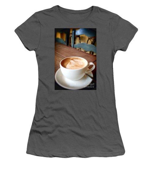 Good Morning Latte Women's T-Shirt (Athletic Fit)