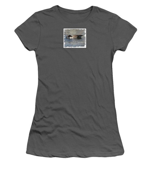 Goosey Lucy Painting Women's T-Shirt (Athletic Fit)
