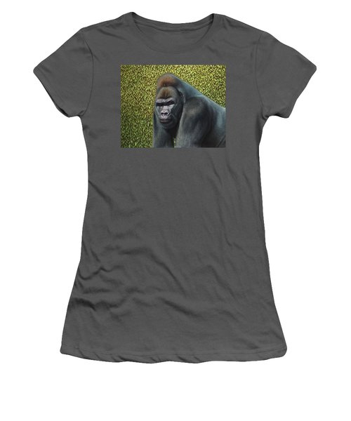 Gorilla With A Hedge Women's T-Shirt (Athletic Fit)