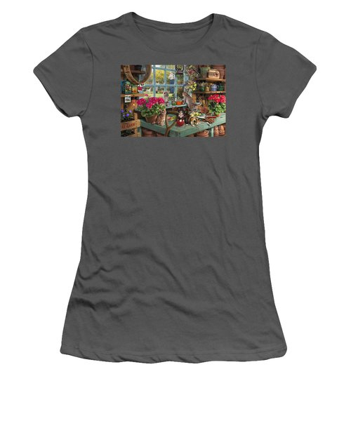 Grandpa's Potting Shed Women's T-Shirt (Athletic Fit)
