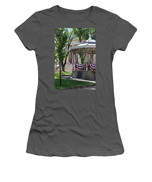 Women's T-Shirt (Junior Cut) featuring the photograph Grandstand Patriotism  by Natalie Ortiz