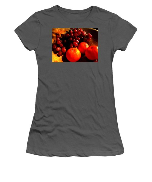 Grapes And Tangerines Women's T-Shirt (Athletic Fit)
