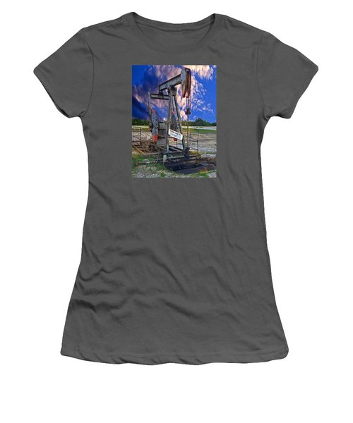 Women's T-Shirt (Junior Cut) featuring the photograph Grasshopper by Ella Kaye Dickey