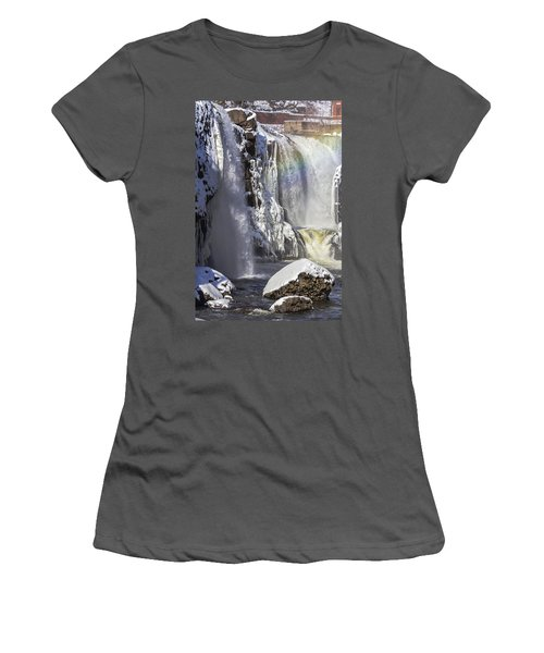 Great Falls And A Rainbow Women's T-Shirt (Athletic Fit)