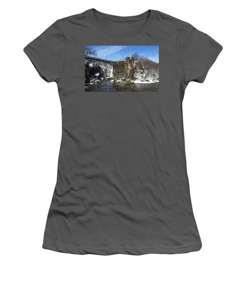 Great Falls Painted Women's T-Shirt (Athletic Fit)