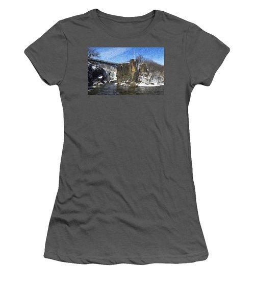Great Falls Painted Women's T-Shirt (Junior Cut)