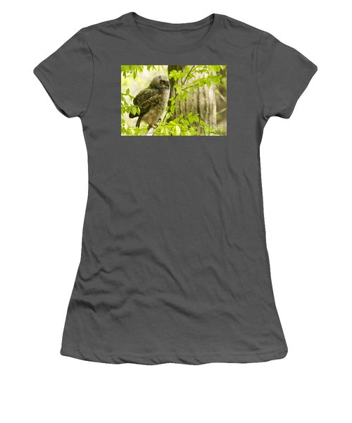 Great Horned Owlet Women's T-Shirt (Athletic Fit)
