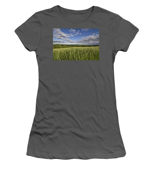 Green And Blue Women's T-Shirt (Athletic Fit)