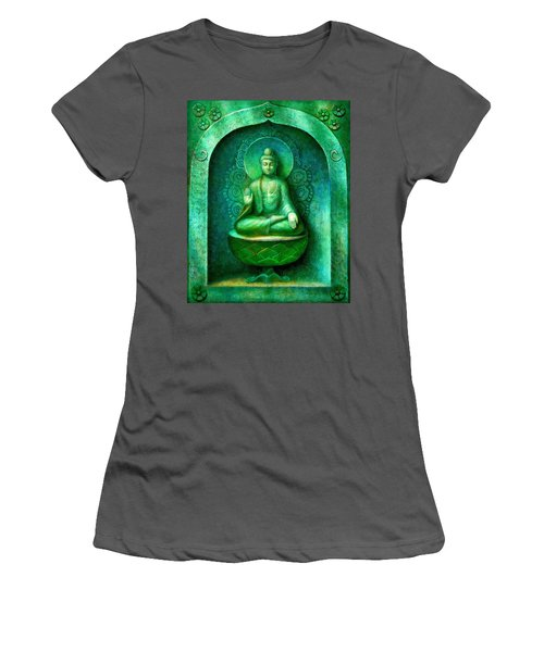 Green Buddha Women's T-Shirt (Athletic Fit)