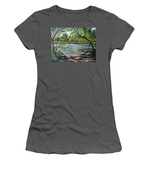 Green Hill Park On The Roanoke River Women's T-Shirt (Athletic Fit)
