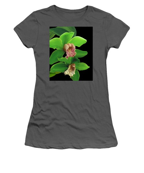 Green Orchids Women's T-Shirt (Athletic Fit)