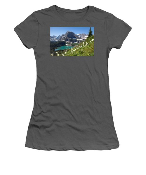 Grinnell Lake With Beargrass Women's T-Shirt (Athletic Fit)