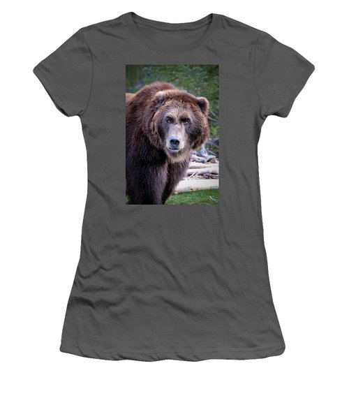 Women's T-Shirt (Junior Cut) featuring the photograph Grizzly by Athena Mckinzie