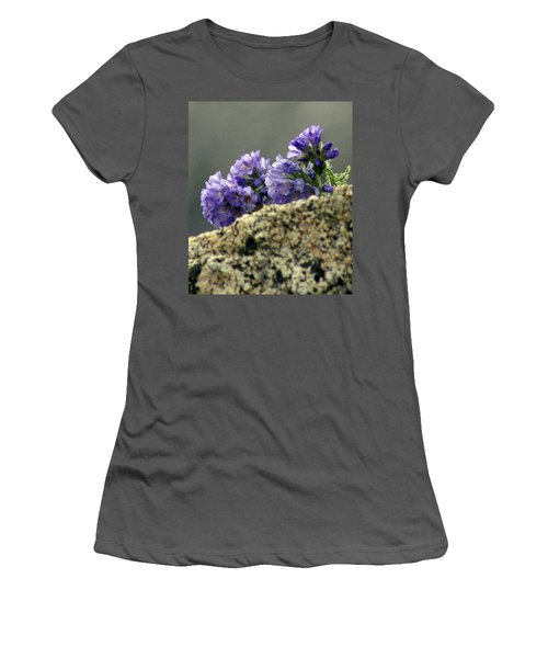 Women's T-Shirt (Junior Cut) featuring the photograph Growing In Granite by Jeremy Rhoades