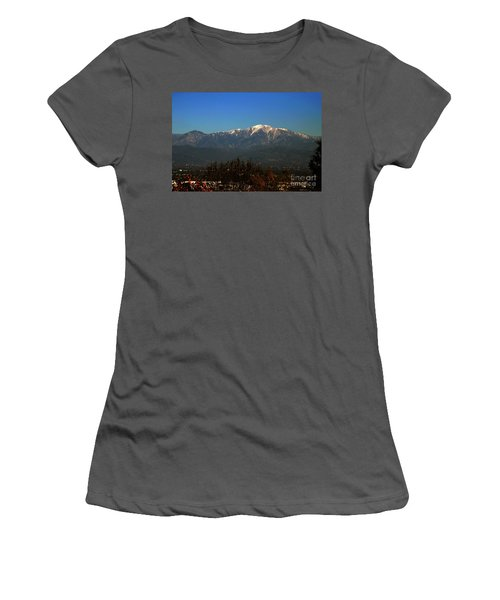 Women's T-Shirt (Athletic Fit) featuring the photograph Hacienda Heights And Industry Overlook by Clayton Bruster