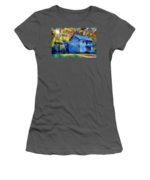 Hagood Mill With Sunrays Women's T-Shirt (Athletic Fit)