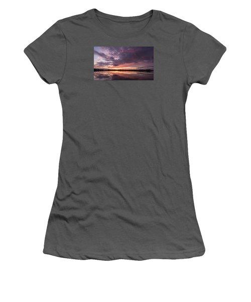 Halifax River Sunset Women's T-Shirt (Junior Cut) by Paul Rebmann