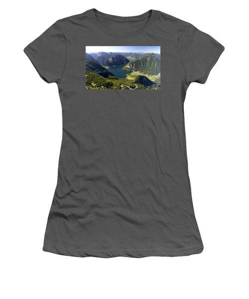 Hallstatt Lake Austria Women's T-Shirt (Junior Cut) by Chevy Fleet