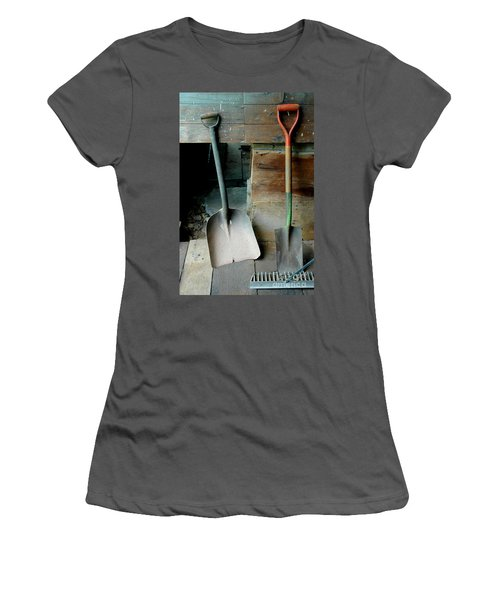 Women's T-Shirt (Athletic Fit) featuring the photograph Handled And Raked by Christiane Hellner-OBrien