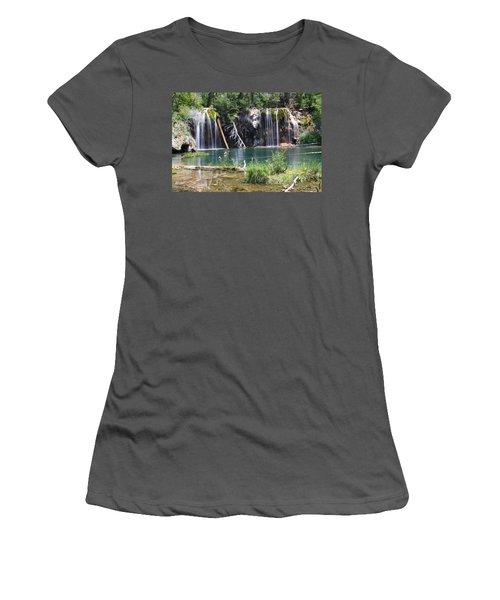 Hanging Lake Women's T-Shirt (Junior Cut) by Eric Glaser
