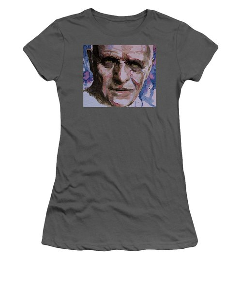 Women's T-Shirt (Junior Cut) featuring the painting Hannibal by Laur Iduc