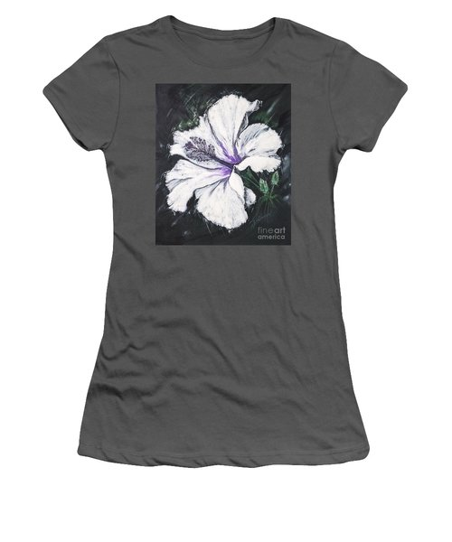 Happy Hibiscus Women's T-Shirt (Athletic Fit)