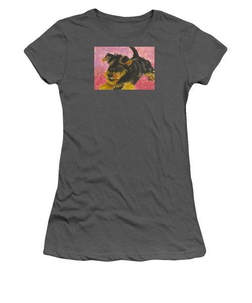 Happy Women's T-Shirt (Junior Cut) by Jeanne Fischer