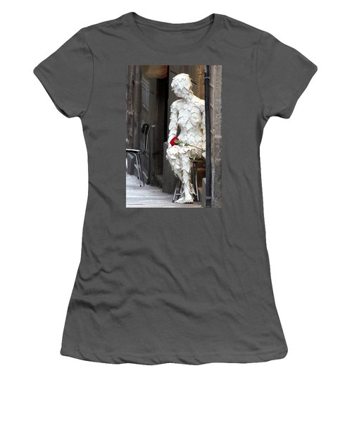 Happy Valentines Day Women's T-Shirt (Junior Cut) by Jennifer Wheatley Wolf