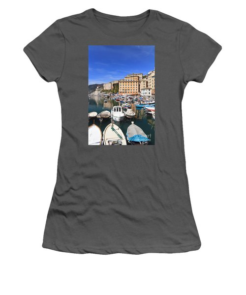harbor in Camogli - Italy Women's T-Shirt (Athletic Fit)