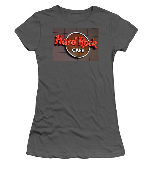 Hard Rock Cafe Sign Women's T-Shirt (Athletic Fit)