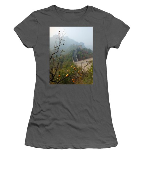 Harvest Time At The Great Wall Of China Women's T-Shirt (Athletic Fit)