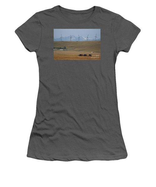 Harvesting Wind And Grain Women's T-Shirt (Athletic Fit)