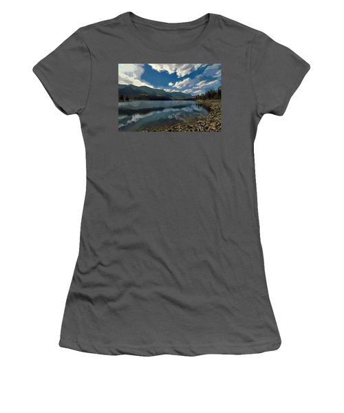 Women's T-Shirt (Junior Cut) featuring the painting Haviland Lake by Jeff Kolker