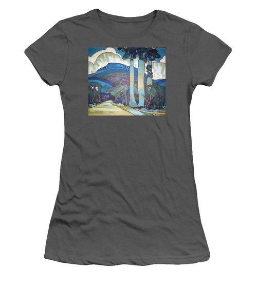 Hawaiian Landscape Women's T-Shirt (Athletic Fit)