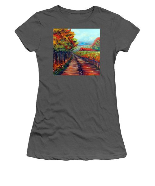 He Walks With Me Women's T-Shirt (Athletic Fit)