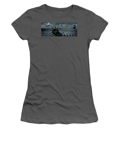 Head Of A Statue With A Broken Bridge Women's T-Shirt (Athletic Fit)
