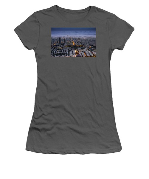 Women's T-Shirt (Junior Cut) featuring the photograph Here Comes The Fog  by Ron Shoshani