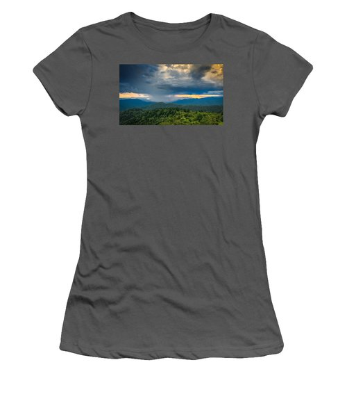 Women's T-Shirt (Athletic Fit) featuring the photograph Here Comes The Rain by Joye Ardyn Durham