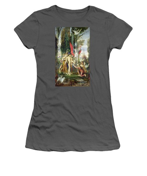 Hesiod And The Muses Women's T-Shirt (Junior Cut) by Gustave Moreau