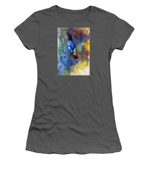 Women's T-Shirt (Junior Cut) featuring the painting Hidden Light by Allison Ashton