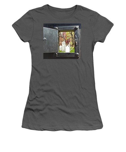 Women's T-Shirt (Junior Cut) featuring the photograph Hidden New York by Joan Reese